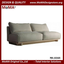 MA-1016R Design Wooden Fabric 2 Seater Japanese Sofa