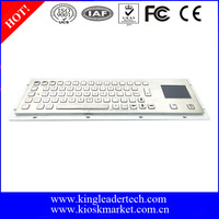 USB brushed mechanical metal keyboard touchpad