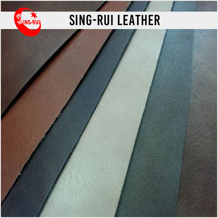 Hot sell pu synthetic nubuck leather for shoes, man shoe leather