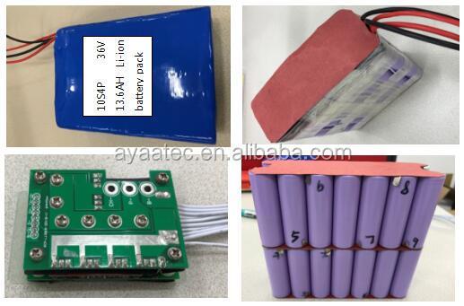 lithium li ion  battery pack e bike battery  36V 13.6Ah 10S4P for e bike.jpg