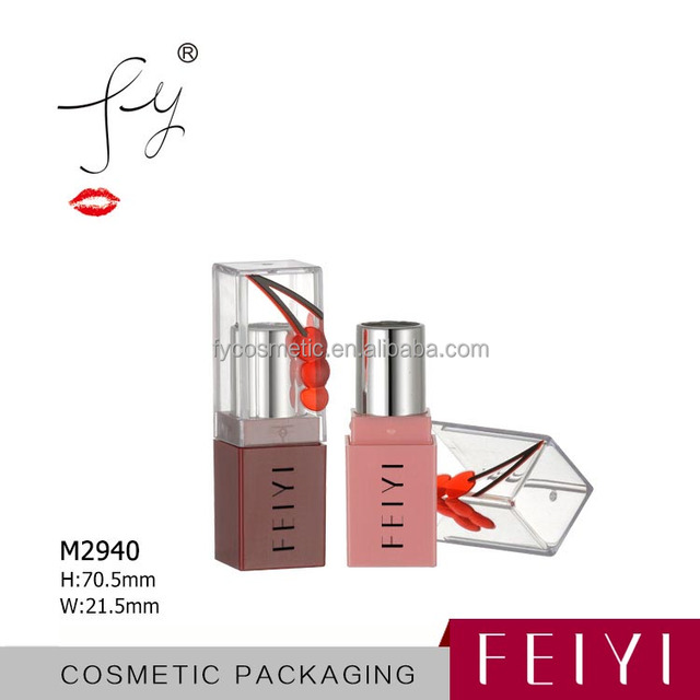 cherry design empty cosmetic packaging unique lipstick tube