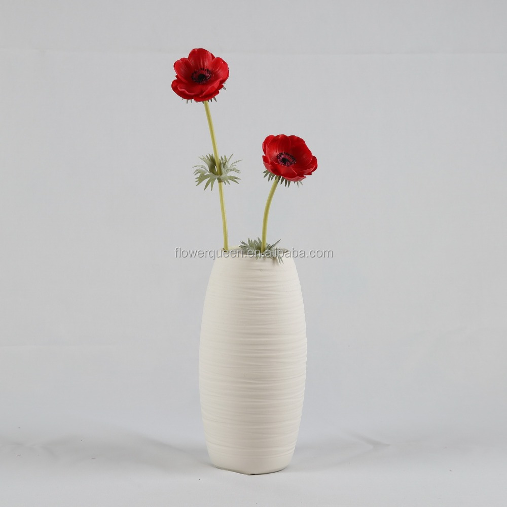 Wholesale Artificial Anemone Flower Big Y Wedding Flowers Sale Artificial White Anemone Black Center Wedding Flowers Cheap