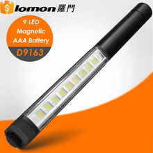 D9163 Hot Sell Wholesale 9 Led Pen Rechargeable Led Magnetic Work Light