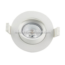 2700k 3000k 4000k 5000k warm white cool white 9w recessed cob led downlight dimmable design for nordic market Gyro 83mm cut