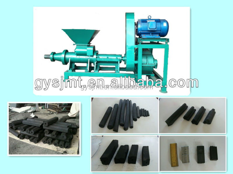 2017 good quality biomass extruder stick activated carbon/charcoal powder extruder briquette making machines
