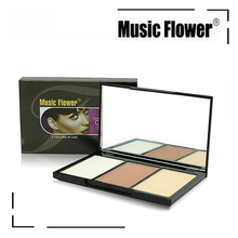 MUSIC FLOWER Makeup Face Contour Kit Pressed Powder and Highlighter Palette Makeup Cosmetics
