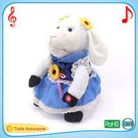 30cm sunflower cute she sheep puppet electronic talking and singing cuddle animal stuffed plush toys