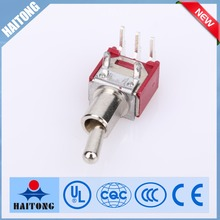 waterproof switches 3 pin silver color toggle switch elesronics switch