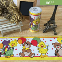 Colorful Bear Design PVC Wallpaper Border Sticker Self adhesive Film for Baby Room Decoration