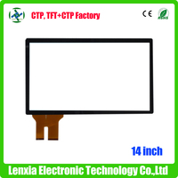 High quality capacitive multi touch screen 14 inch with EETI controller