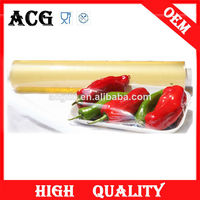 Transparent and soft fresh wrap pvc cling film jumbo roll