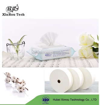 Natural Cotton Spunlace Non Woven Raw Material for Wet Wipe
