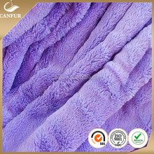 100% polyester knitted plush toy fabric with long pile faux fur