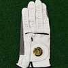 New OEM Personalized Mens Indonesia Cabretta Leather Golf Gloves Left Hand Golf Glove with Gold Marker