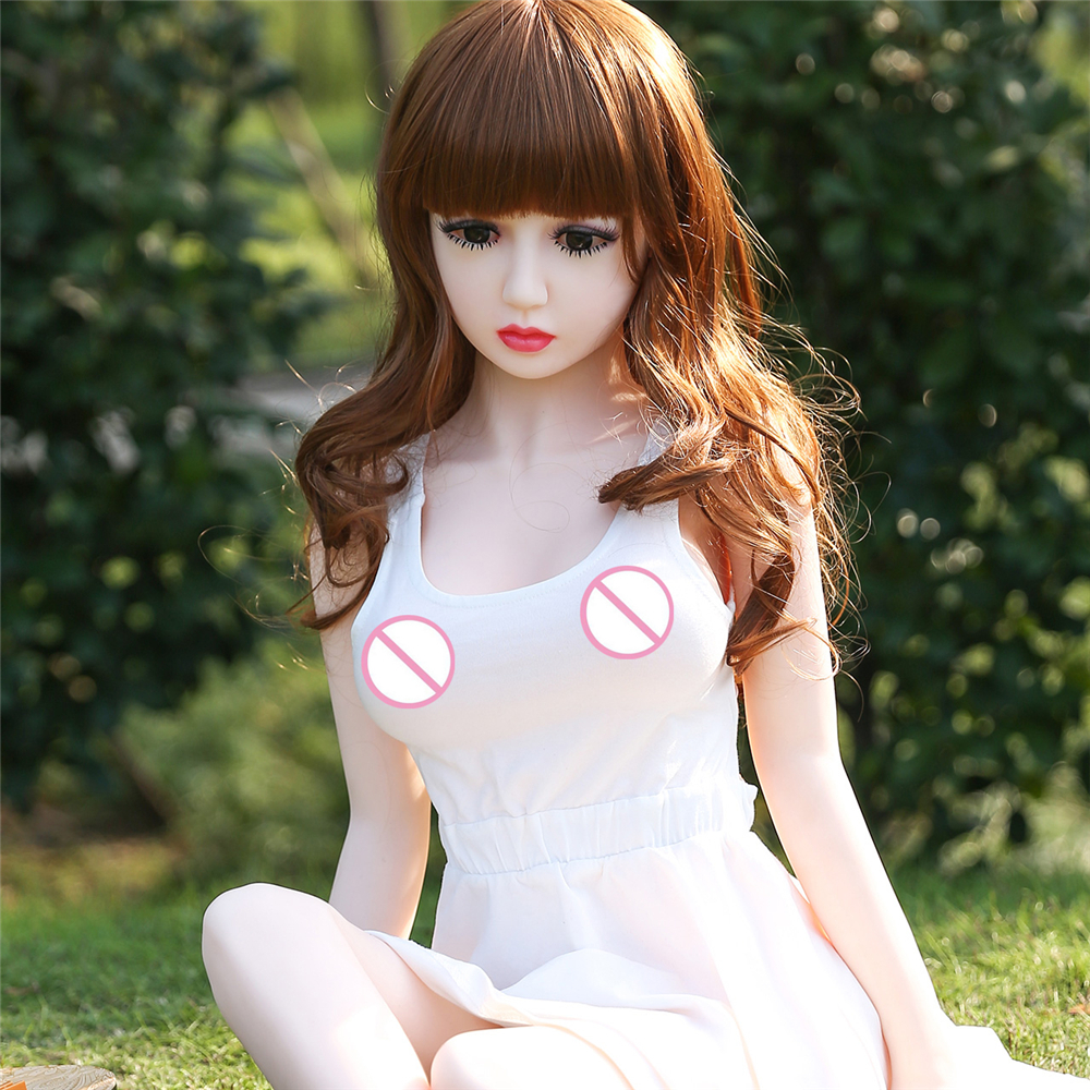 125cm Real Silicone Sex Dolls Real Lifelike Oral Anal Vagina Sex Robot Dolls Full Solid Skeleton TPE Love Doll C-125-001