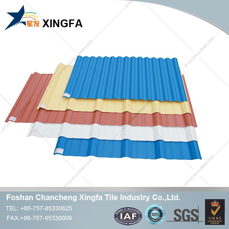 spanish roof sheet/corrugated white plastic roof sheet/interlocking roof sheet