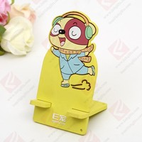 custom cartoon soft pvc mobile phone holder/rubber cell phone holder