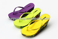 2015 fashion edge PVC high heel model ladies sandal chappal