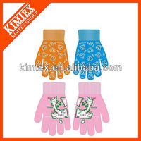 Cheap winter neon winter gloves