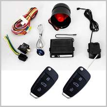 Touch sensitive invisible hidden car Anti-hijacking wireless one way car alarm remote with Remote control long distance