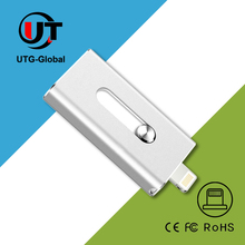 metal USB2.0 otg usb flash drive 100% capacity 8GB 16GB 32GB 6GB For iphone 7 plus 128GB,Android and PC
