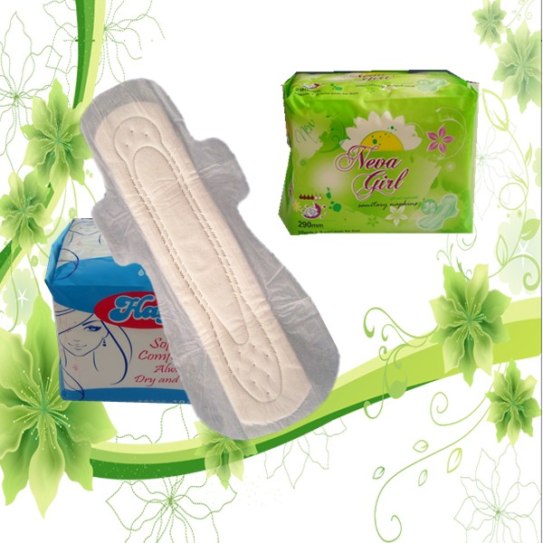 Overnight wholesale lady anion feminine herbal cotton sanitary napkins/pads medical tampon with wings