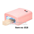 Hotselling nail uv gel curing machine PP 36w nail art 818 uv curing lamp