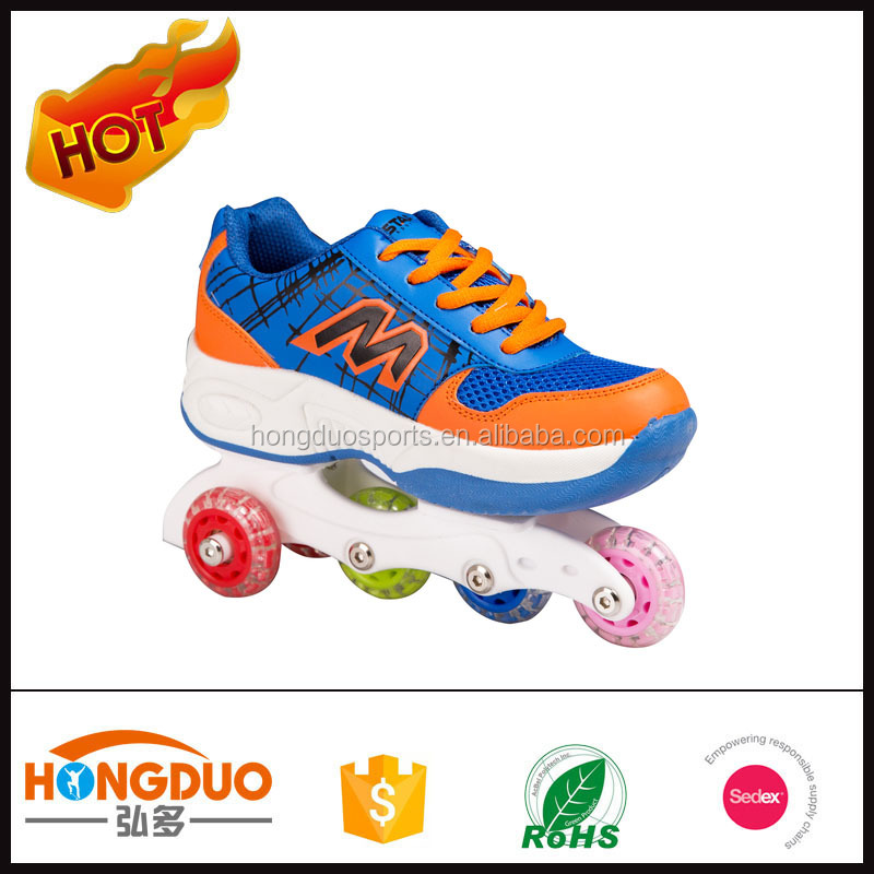 High quality fly skate shoes,2 in 1 roller skate shoes