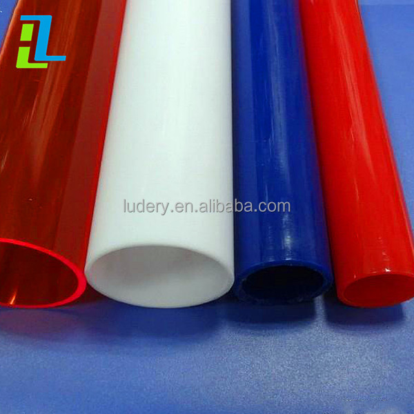 high quality hollow Frosted acrylic <strong>tube</strong> from china supplier
