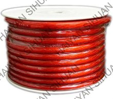 Car audio 8 GA Red Car power wire cable