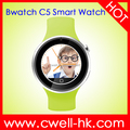 Bwatch C5 UV Tester Bluetooth Smart Watch CNC Aluminium Alloy Body 2.5D Arc Round Touch Screen mobile watch phone
