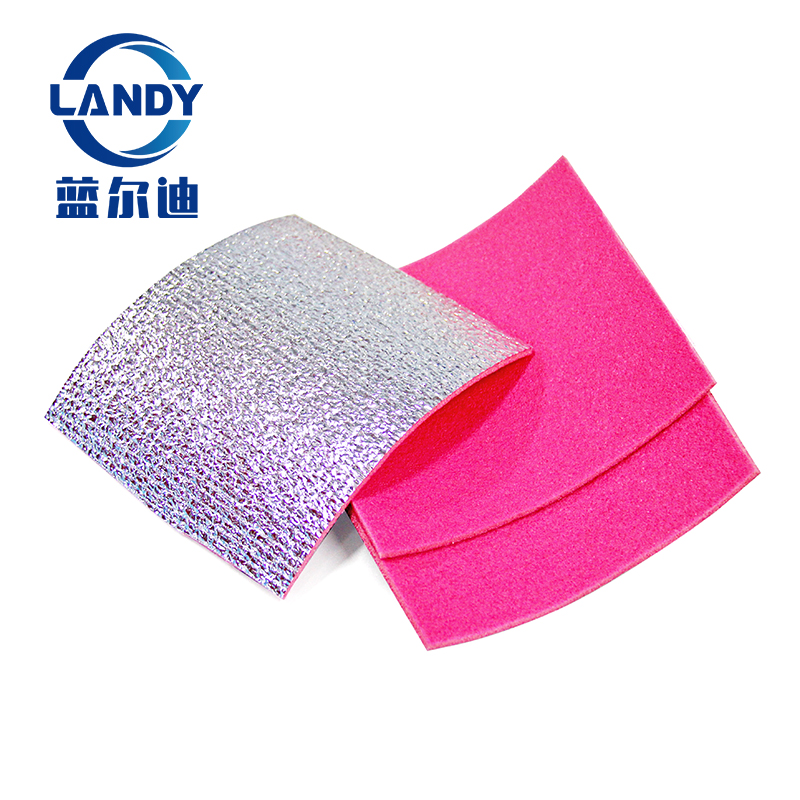 Non flammable foil polyethylene xpe coated insulation foam laminated aluminum foil insulation supplier