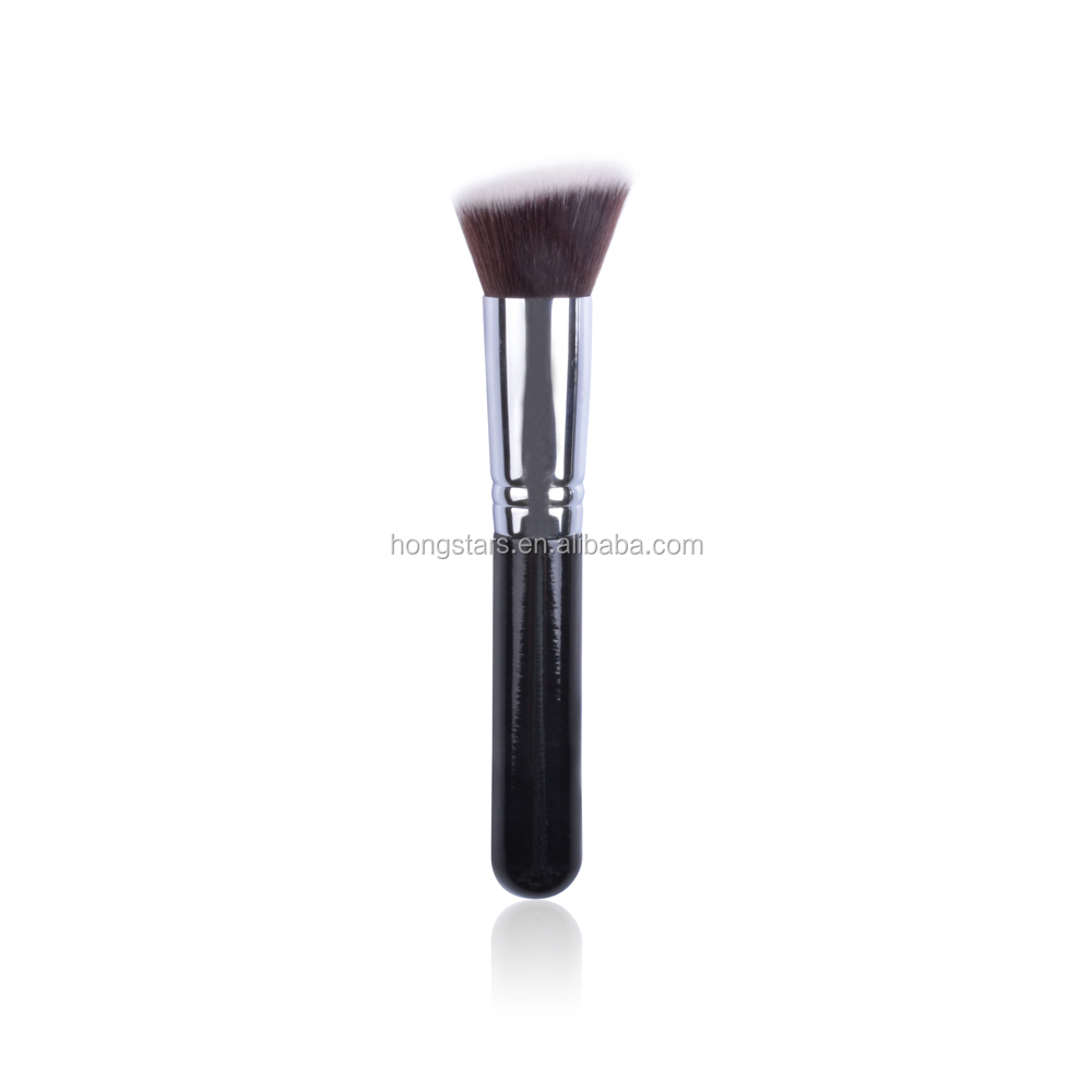 Meidao Customised beauty tools wood handle foundation black make up brushes