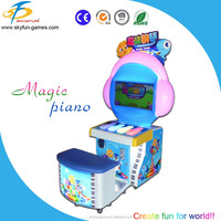 2016 coin electronic arcade lottery game machine, electronic kids game, educational music games machine