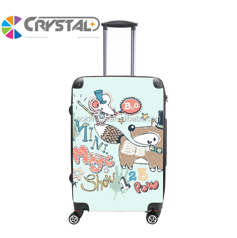 2017 Customized Design top fashion light weight pc bag travel trolley luggage eminent luggage ugly luggage