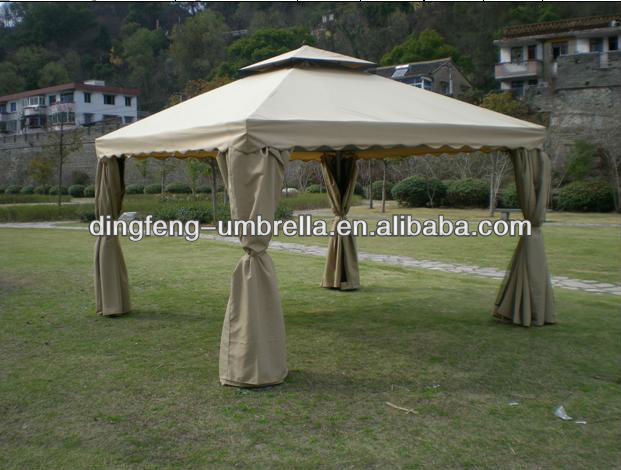 double layer metal outdoor folding tent (pop up gazebo)