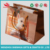 cute dog art paper bag with cotton handles and small card from wenzhou China