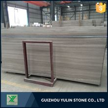 Chinese material wooden white marble slabs