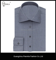 High quality strong cutaway collar solid grey men shirt from turkey
