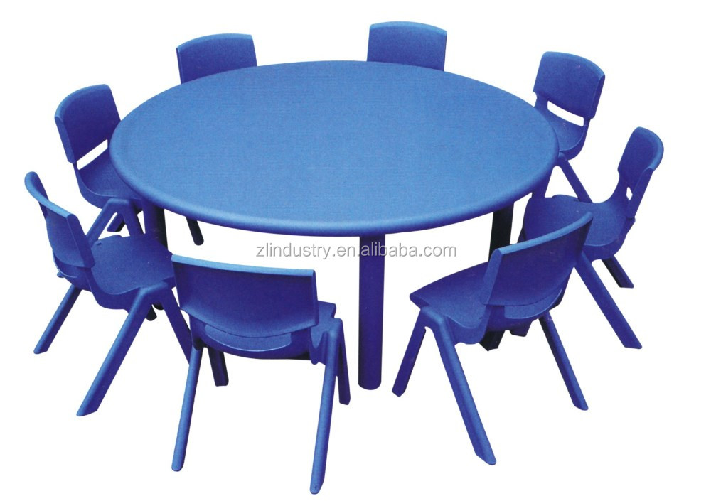New design plastic stable colorful primary school tables and chairs