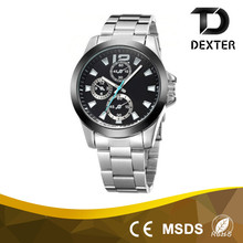 2016 factory cheap stainless steel chain brand watches men watch