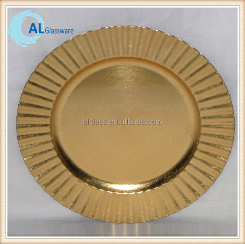 Wholesale Cheap Gold Plastic Charger Plate Dinner Plate