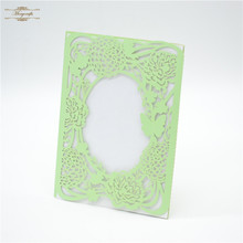 Fancy butterfly and flower wedding philippines mint laser cut invitations