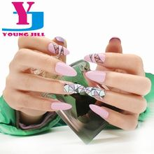 New Fashion Women False Nails French Style Ending Stiletto Acrylic Fake Nail Art Tips DIY Decoration Wholesale