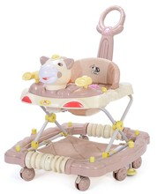 4 or 8 wheels animals style baby walker round with music and light