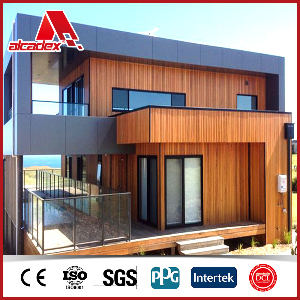 Wooden texture aluminum plastic composite wall cladding panel