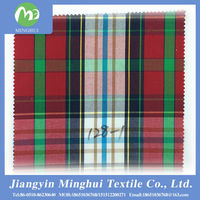 100% cotton yarn dyed plaid fabric for cotton bed sheets
