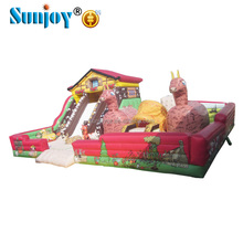 Amusement park small farm zone fun city used commercial inflatable children indoor playground equipment for sale
