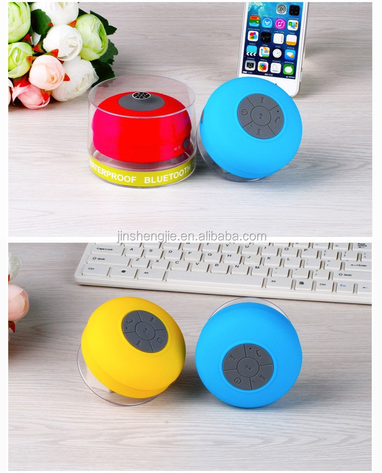Bathroom Mini IPX4 Waterproof Bluetooth Shower Speaker With Suction Cup