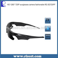 720p Waterproof Sunglasses Camera Video Recorder for Skiing with Polarized Lens RE-SG100